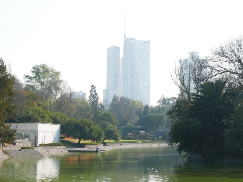 Pond in Chapultepec park in Mexico City