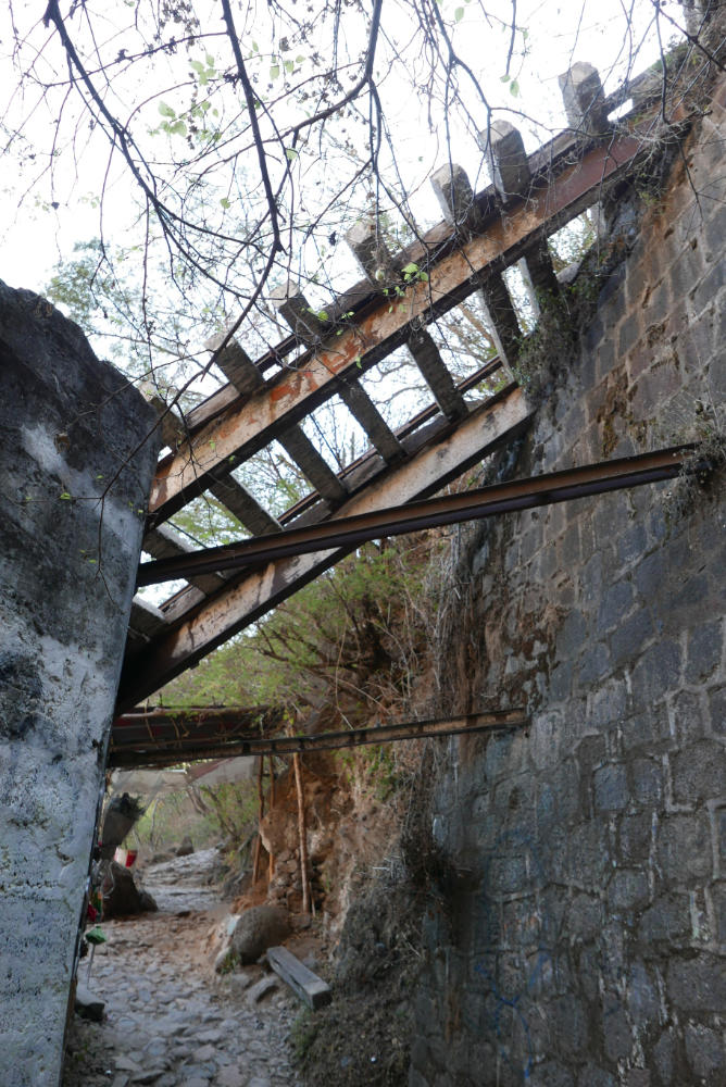 Former cable car funicular in Barranca de Huentitan