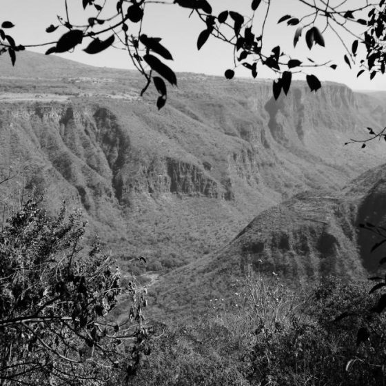 Overview of Barranca de Huentitan canyon