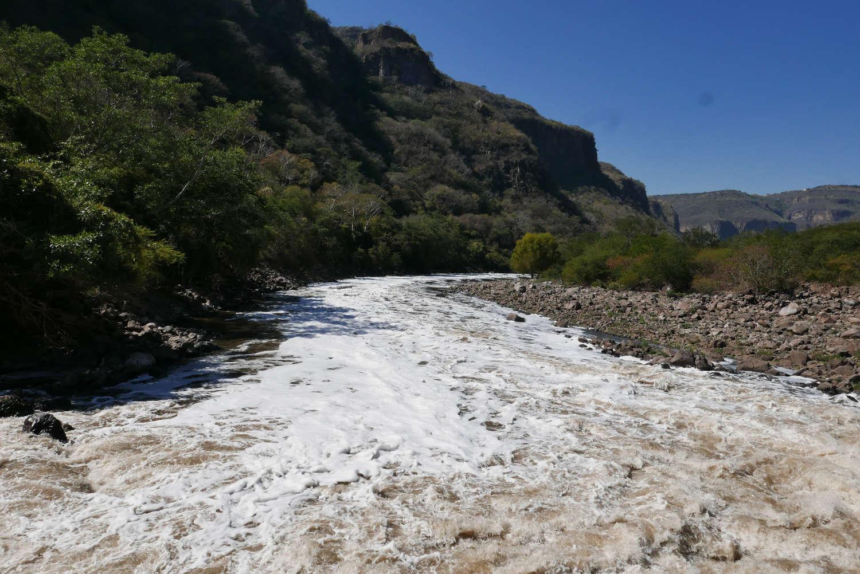 Grande de Santiago river in Barranca de Huentitan canyon
