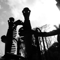Tower structure in Las Pozas surrealist garden in Xilitla