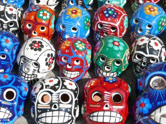 Souvenir skulls in Oaxaca