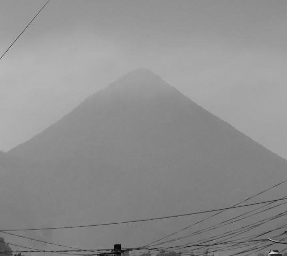 Morning view of Santa Maria volcano, Xela