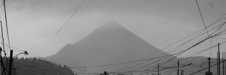 Morning view of Santa Maria volcano, Xela
