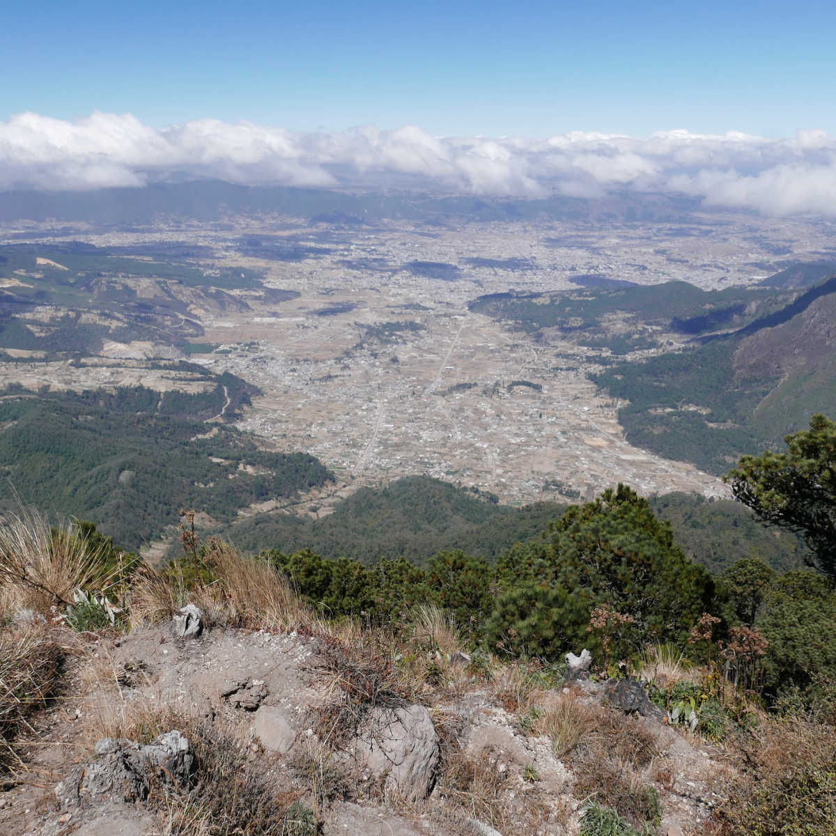 View from volcano Santa Maria near Xela, Guatemala