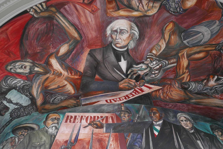 Mural by Orozco in Chamber of Deputies of Palacio Gobierno in Guadalajara