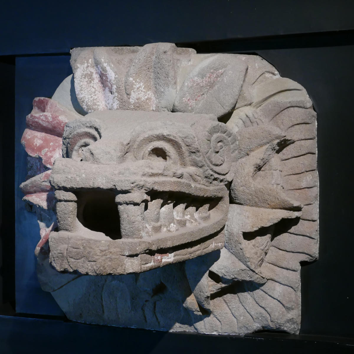 Piece of art in Teotihuacan museum