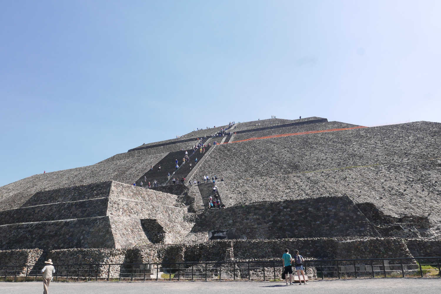 Closer look of Pyramid of the Sun in Teotihuacan