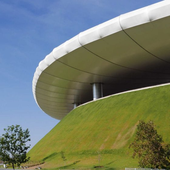 Roof and outside walls of Chivas stadium in Guadalajara