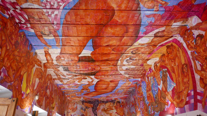 Ceiling of bookstore in San Miguel de Allende