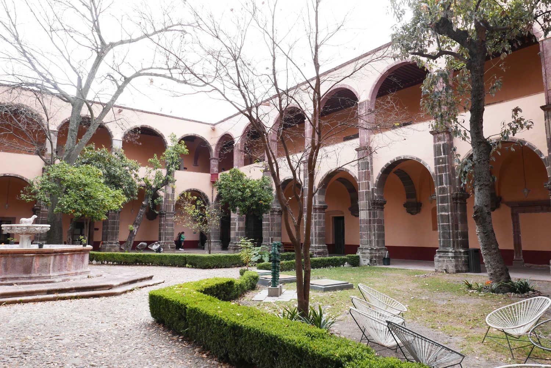 Centro cultural inner courtyard in San Miguel de Allende