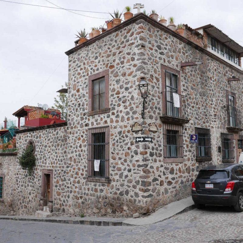 Stone old house in San Miguel de Allende