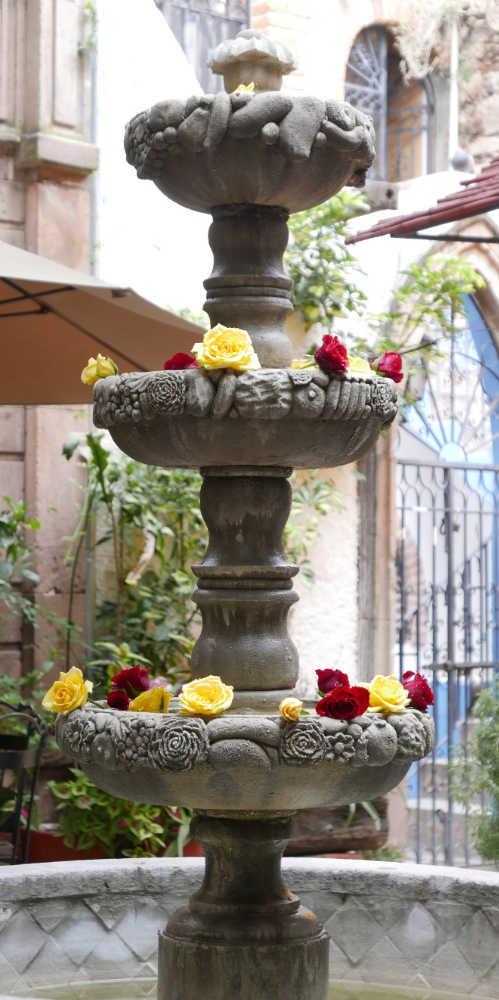 Inner courtyard in San Miguel de Allende