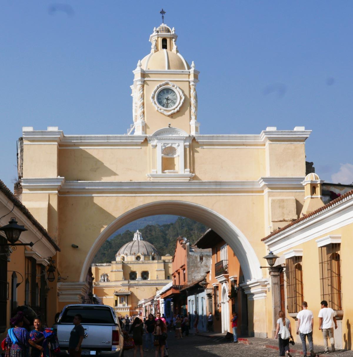 Arch in central Antigua, Guatemala