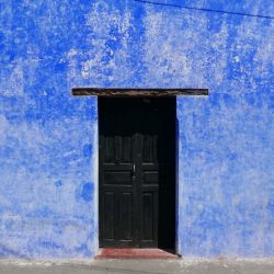 Blue house in Antigua Guatemala