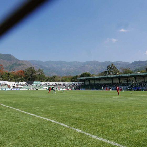 Match in Estadio Pensativo in Antigua Guatemala