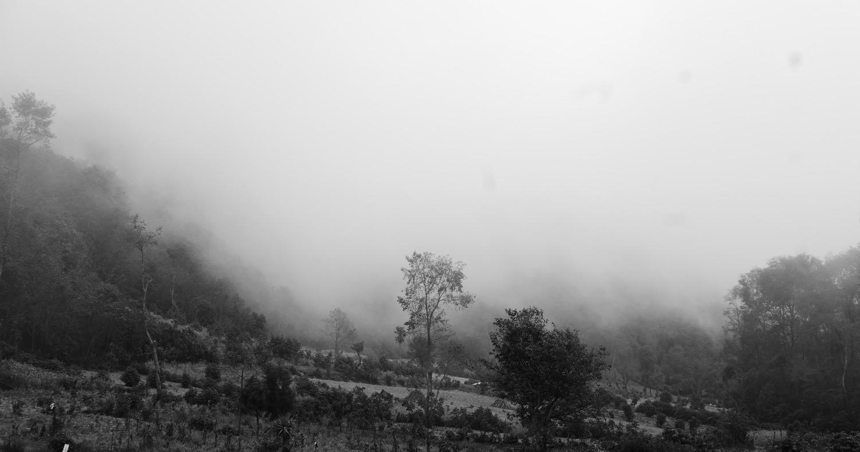 Dreamscapes. The fog moving into the mountains towards Laguna de Chicabal, near Xela