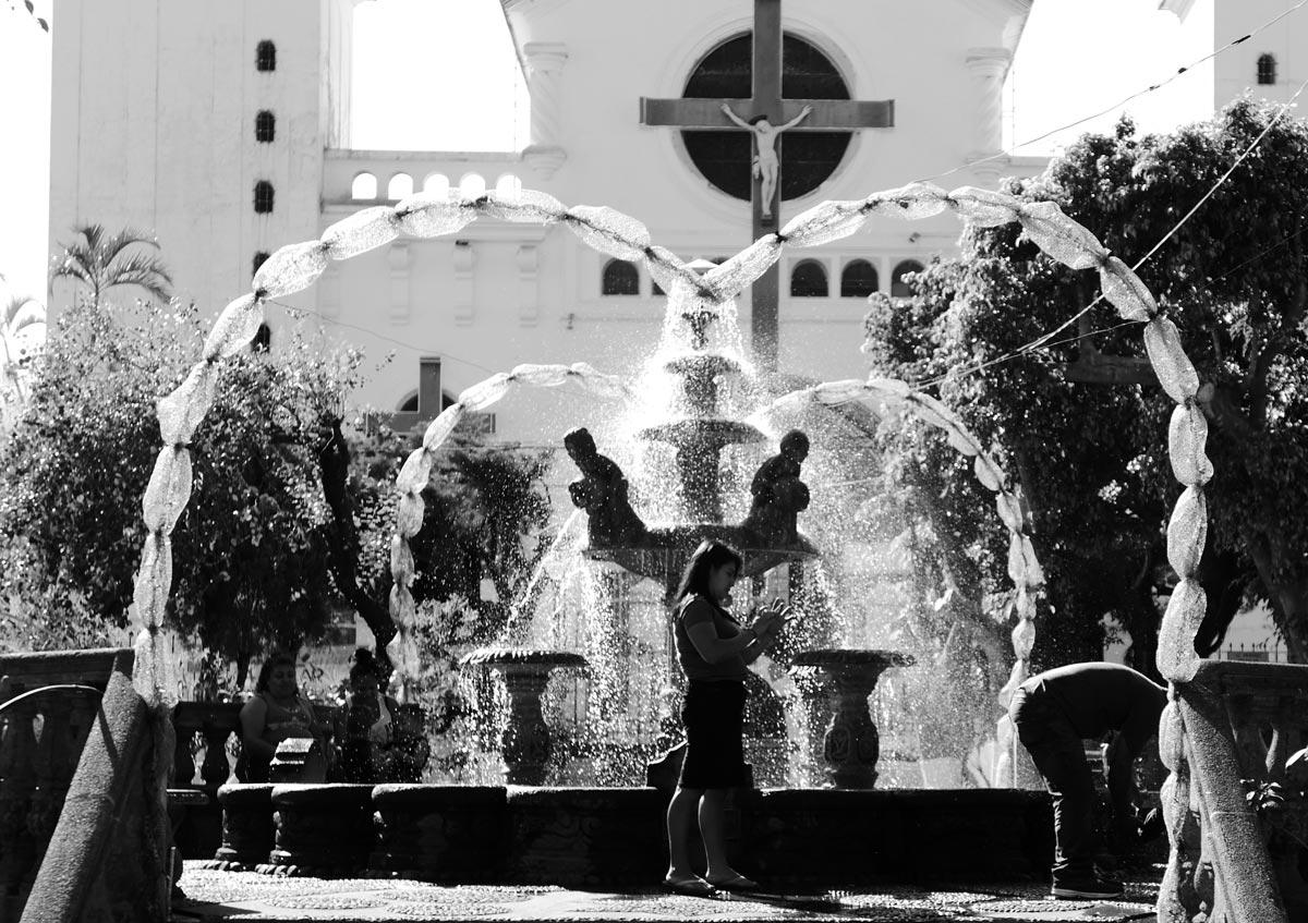 Plaza Central in Juayua, El Salvador