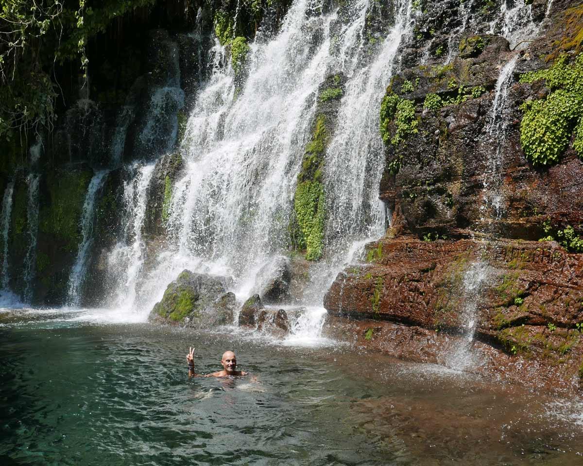 One of the Los Chorros waterfalls near Juayua, El Salvador