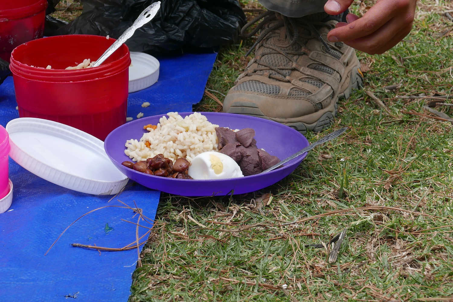The lunch on the second day of the hike to Lake Atitlan