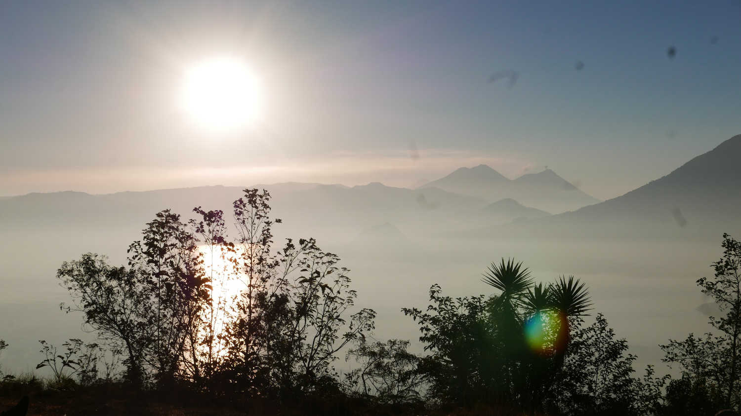 Sunrise over Lake Atitlan