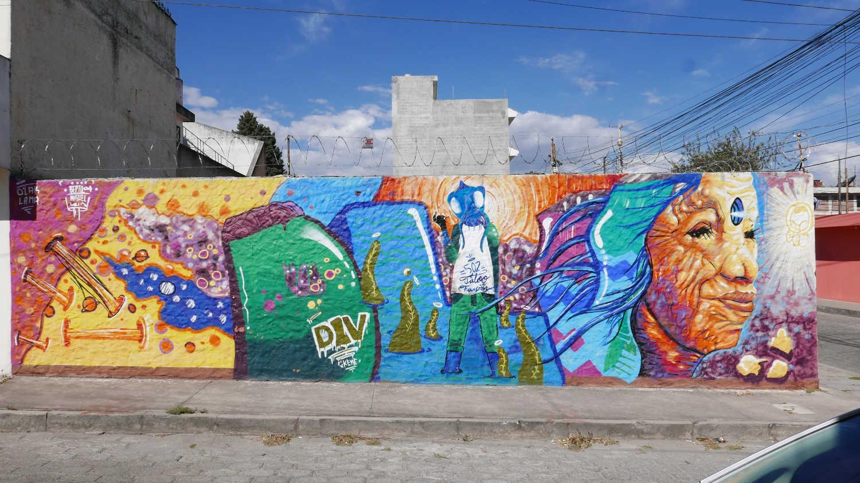 Street art in the western part of Xela