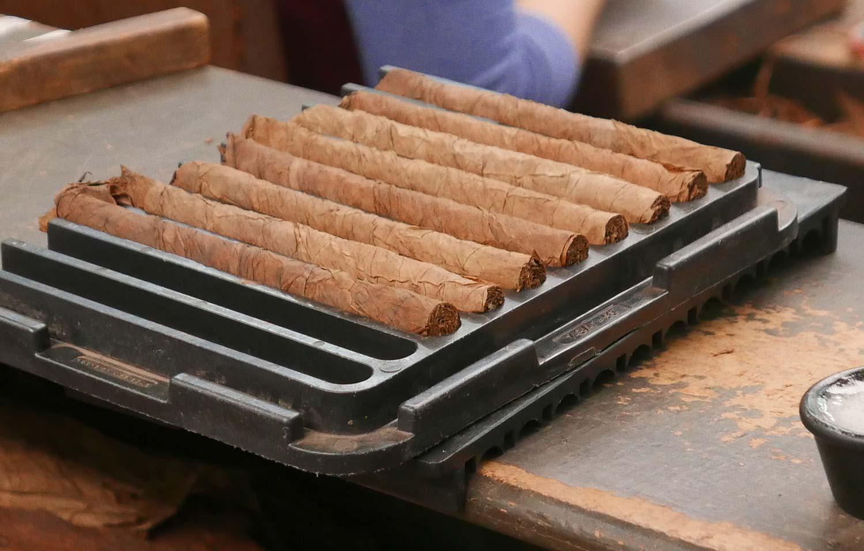 Cigar press in a cigar factory in Esteli, Nicaragua