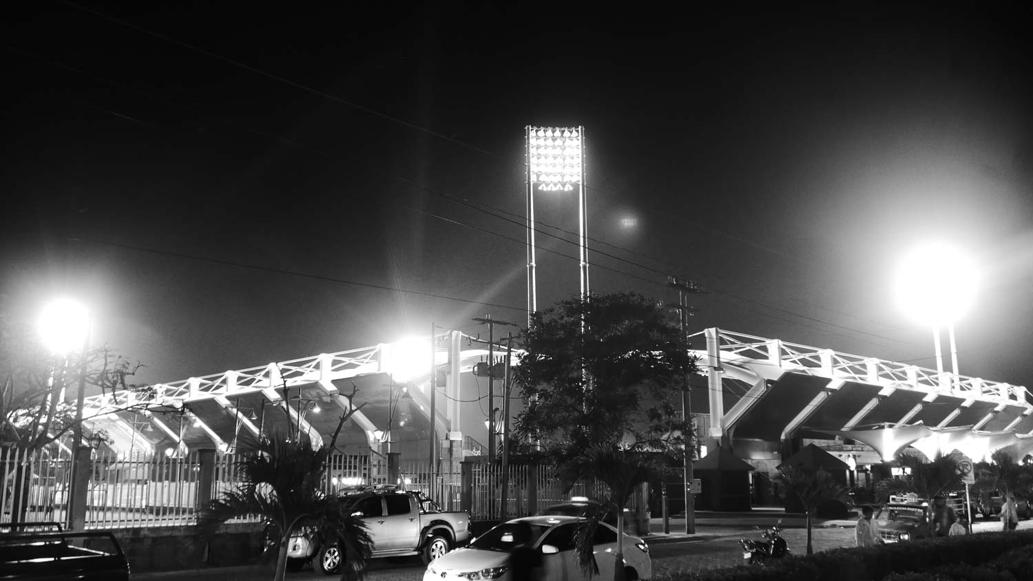 Esteli stadium by night