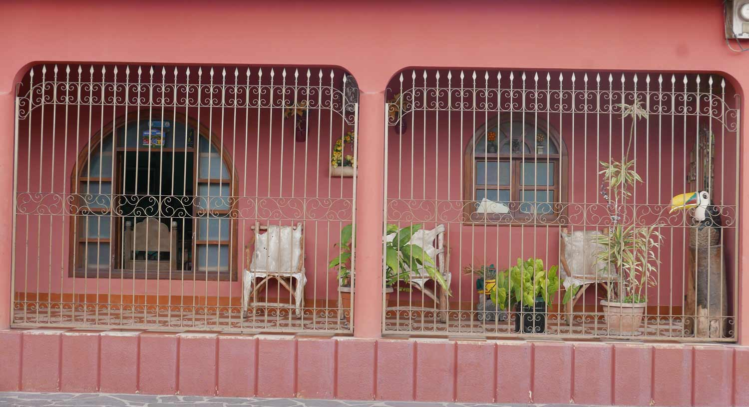 Typical house porch in Esteli, Nicaragua