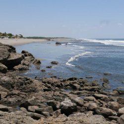 View of Las Penitas beach, near Leon in Nicaragua