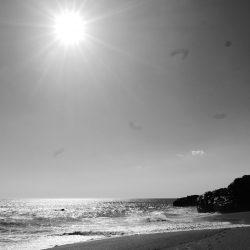 Sun shining on Las Penitas beach, near Leon in Nicaragua