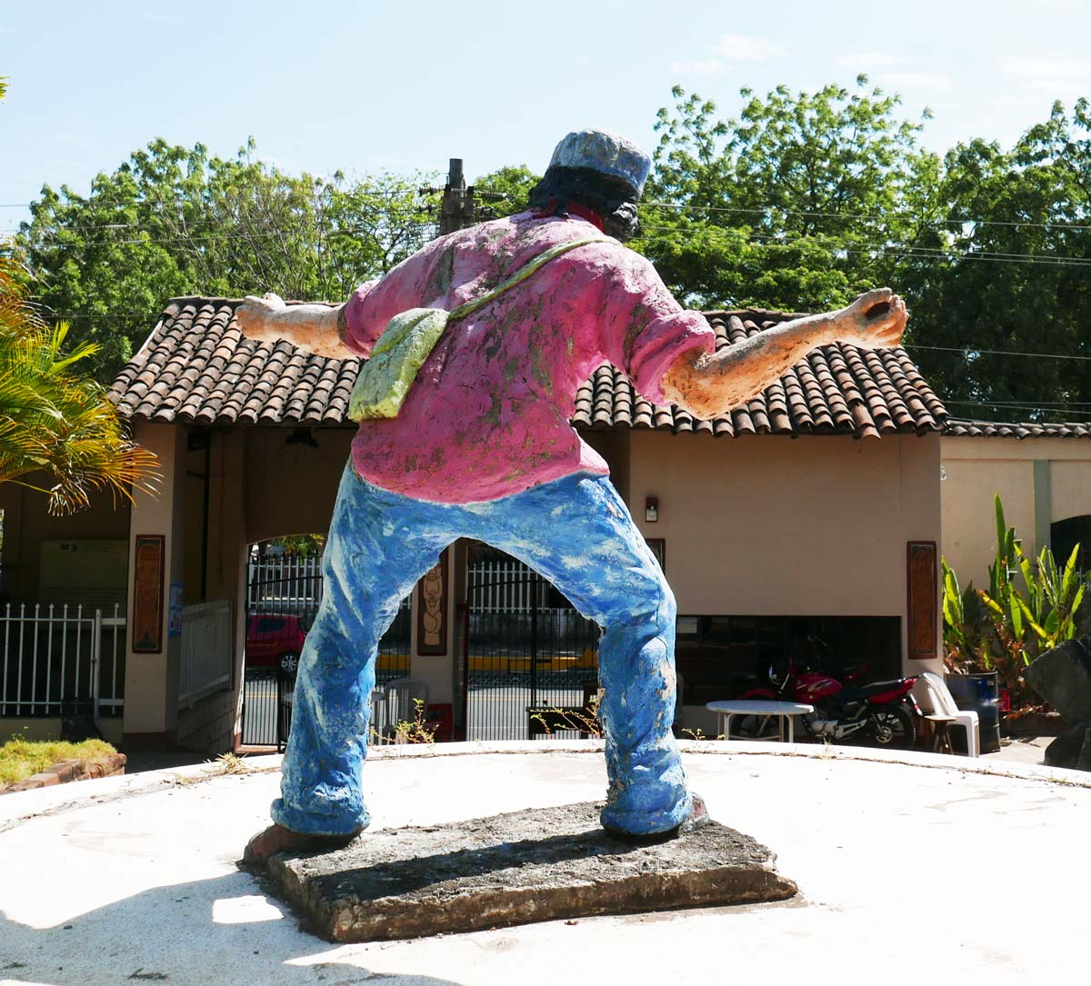 Guerilla statue in museum of Traditions and Legends in Leon, Nicaragua