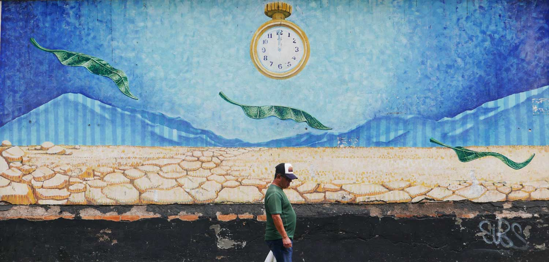 Dreamed that I saw Dali. Street art in San Jose, Costa Rica