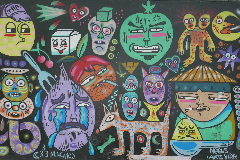 Street art in San Jose, Costa Rica
