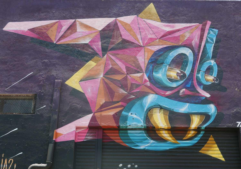Art fish. Near the university. Street art in San Jose, Costa Rica