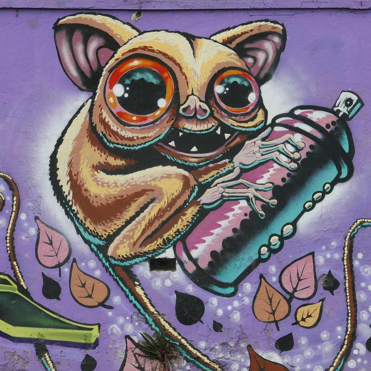 Rocket Man. Street art in San Jose, Costa Rica