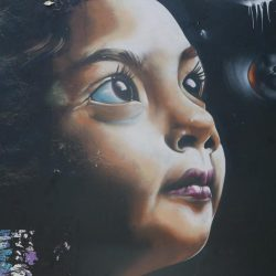 Little Girl. Street art in San Jose, Costa Rica
