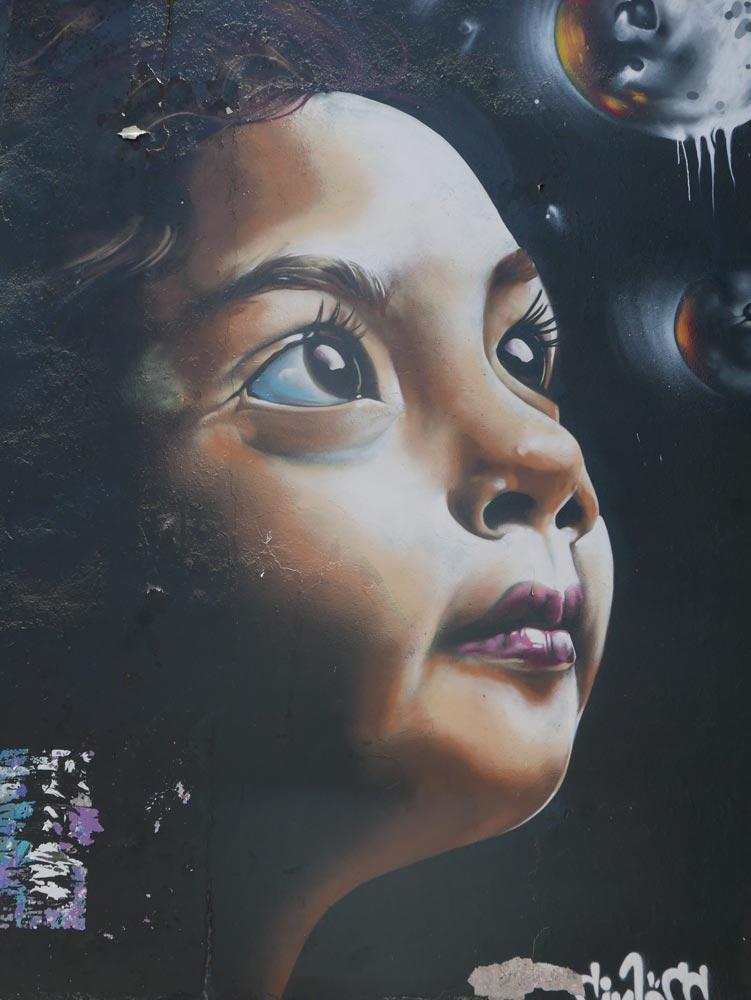 Little Girl. Street art in San Jose, Costa Rica