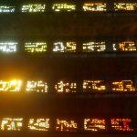Magic light coming through the stained glass of Iglesia El Rosario in El Salvador