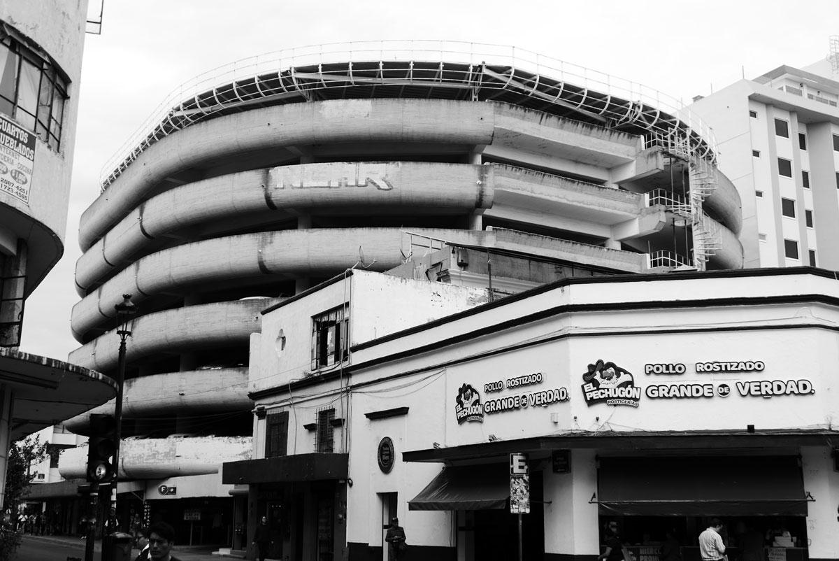 Perfect example of brutalism architecture: this parking garage in Guadalajara