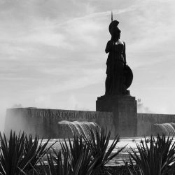 Glorieta la Minerva roundabout in Guadalajara