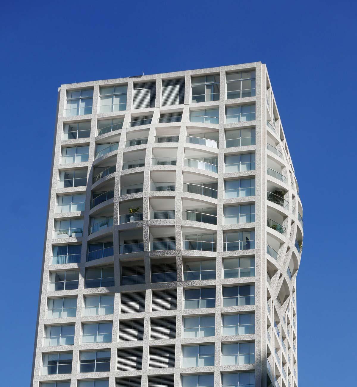 Nice architecture: apartment building towards the Zapopan district in Guadalajara