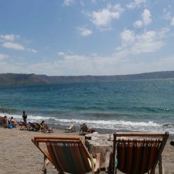 Beach chairs at Laguna de Apoyo