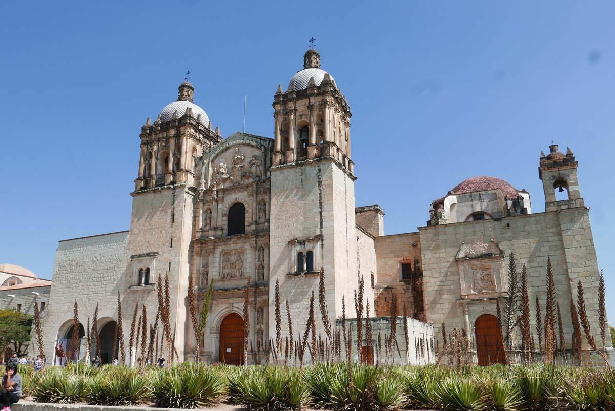 Outside the Templo Santo Domingo church in Oaxaca
