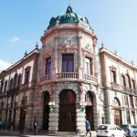 The theatre Macedonia Alcala in Oaxaca city