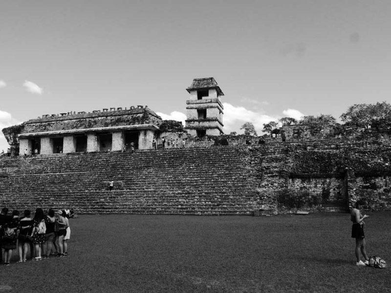 The Palace central complex in Palenque