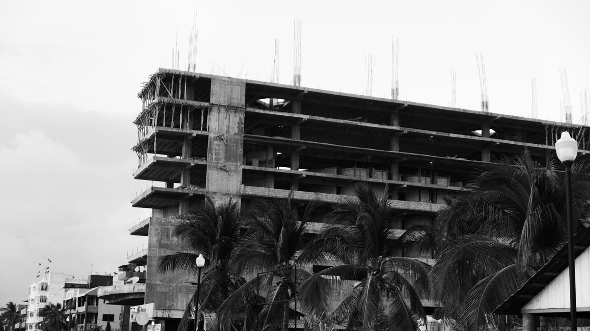 New hotel construction being paused at Zicatela beach in Puerto Escondido