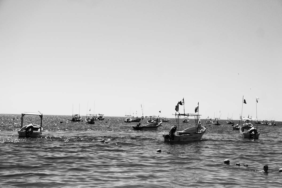 Small fishing boats in Puerto Escondido