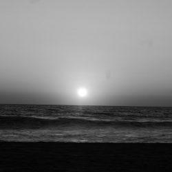 Sunset in Puerto Escondido, seen from Zicatela beach