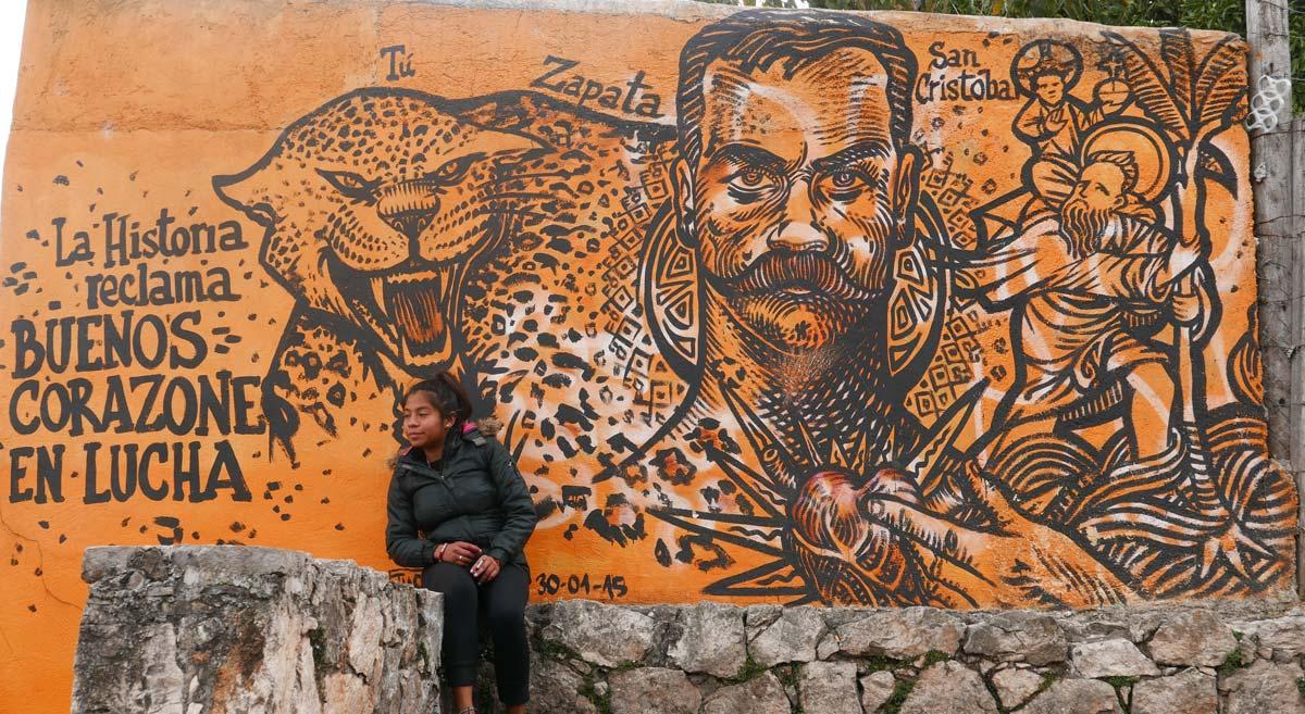 Political street art in San Cristobal de las Casas